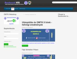 labdarugas.dmtk.hu screenshot