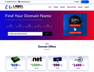 labelhosting.com screenshot