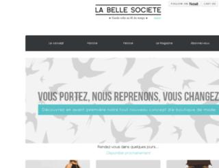 labellesociete.com screenshot