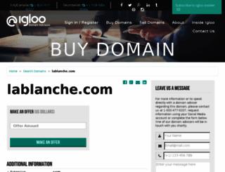 lablanche.com screenshot