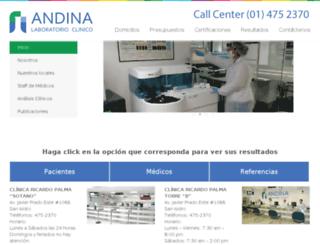 laboratorio.crp.com.pe screenshot