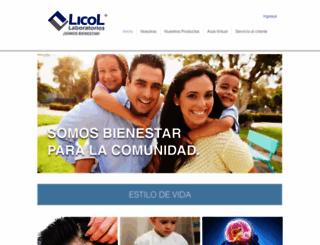 laboratorioslicol.com screenshot