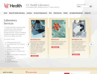 laboratory.uchealth.com screenshot