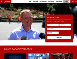 labour.org.nz screenshot