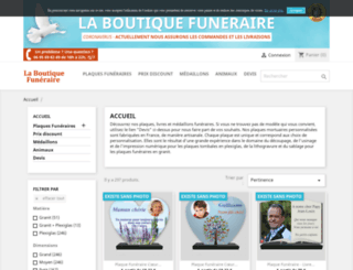laboutiquefuneraire.com screenshot