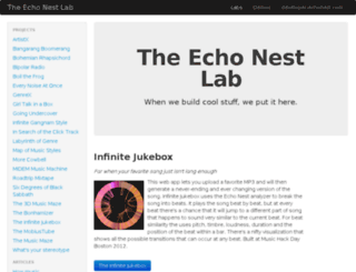 labs.echonest.com screenshot