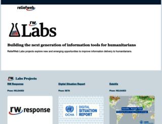labs.reliefweb.int screenshot