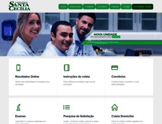 labsantacecilia.com.br screenshot