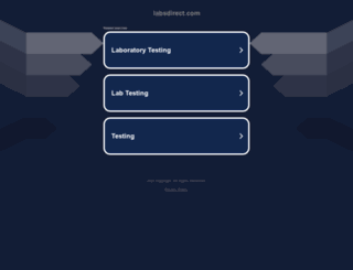 labsdirect.com screenshot