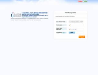 labsonuc.cbu.edu.tr screenshot