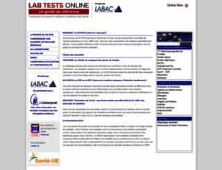 labtestsonline.fr screenshot