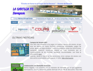 lacartujafc.com screenshot