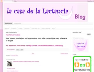 lacasadelalactancia.blogspot.com.es screenshot