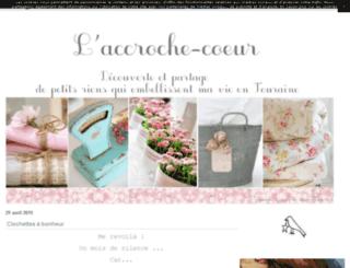 laccrochecoeur.canalblog.com screenshot