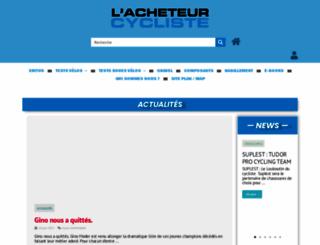 lacheteurcycliste.com screenshot