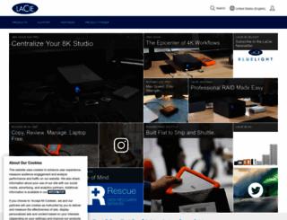 lacie.com screenshot