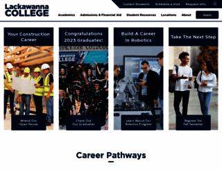 lackawanna.edu screenshot
