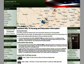 lacklandhousing.com screenshot