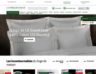 lacompagniedublanc.com screenshot
