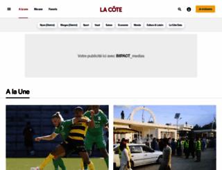 lacote.ch screenshot