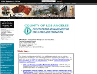 lacountychildcare.org screenshot