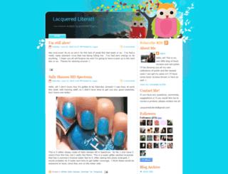 lacqueredliterati.blogspot.com screenshot