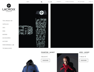 lacroix-skis.com screenshot