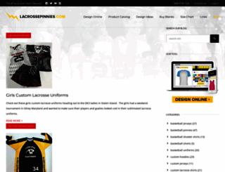 lacrossepinnies.com screenshot