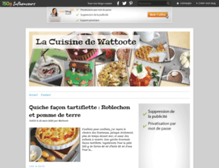 lacuisinedewattoote.fr screenshot