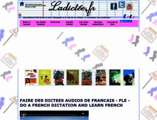 ladictee.fr screenshot