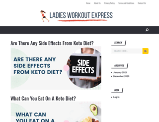ladiesworkoutexpress.com screenshot