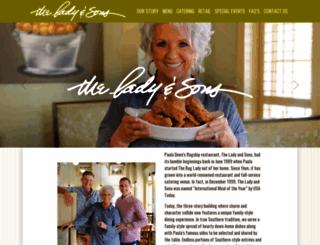 ladyandsons.com screenshot
