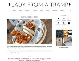 ladyfromatramp.co.uk screenshot