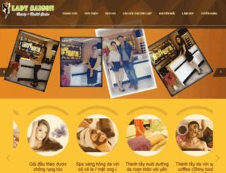 ladysaigonspa.net screenshot