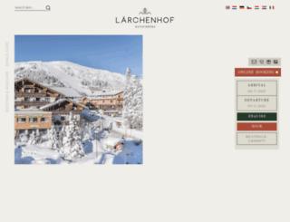 laerchenhof-katschberg.at screenshot