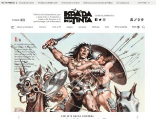 laespadaenlatinta.com screenshot