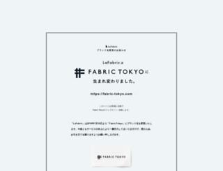 lafabric.jp screenshot