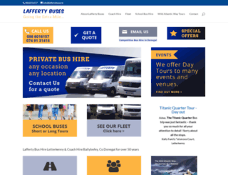 laffertybuses.ie screenshot
