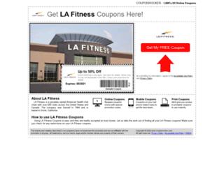 lafitness.couponrocker.com screenshot