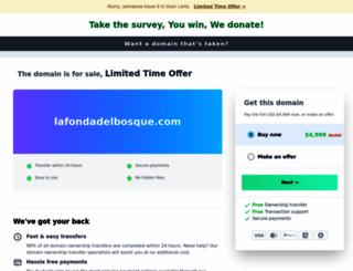 lafondadelbosque.com screenshot