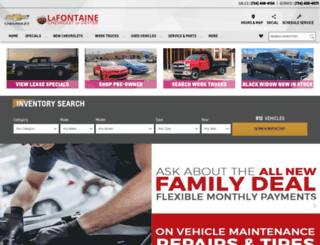 lafontainechevy.com screenshot