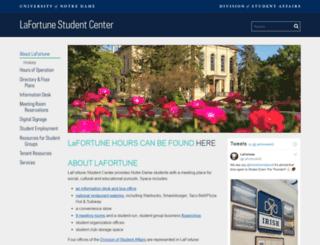 lafortune.nd.edu screenshot