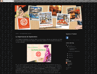 lagaleriarestaurantbar.blogspot.mx screenshot