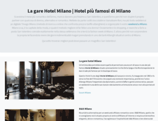 lagarehotelmilano.it screenshot