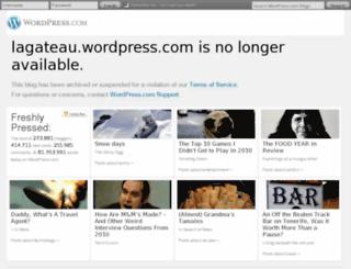 lagateau.wordpress.com screenshot