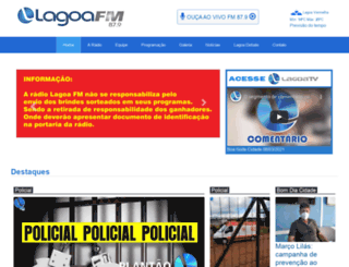 lagoafm.com.br screenshot