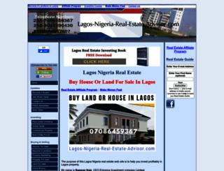 lagos-nigeria-real-estate-advisor.com screenshot