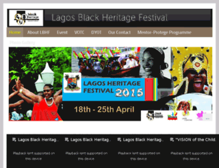 lagosblackheritagefestival.com screenshot