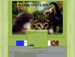 laguerredesclansl.forumactif.fr screenshot