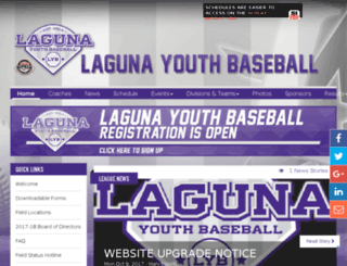 lagunayouthbaseball.sportssignupapp.com screenshot